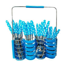[free ongkir]RADYSA Sendok Set Polkadot 24Pcs - Biru Blue Not Specified