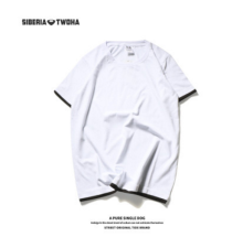 Ins V-266 Siberia Fashion T-shirt with Simple design-White