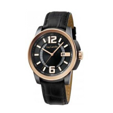Moment watch Guy laroche G3011-03 jam tangan pria - leather strap  - black Black