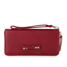 HUER Pitta One Zipper Wallet With Wristlet - Red