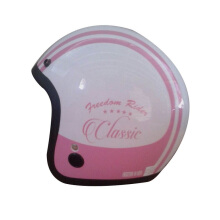 IGLOO Classic Helm Half Face -  White Pink