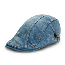Zanzea Unisex Men Women Denim Jeans Washed Newsboy Beret Hat Duckbill Golf Buckle Cabbie Cap