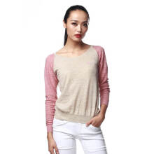 Fredperry Women - Brownish Sweatshirt wt Pink Patch S