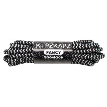 KIPZKAPZ X2A Round Metallic Shoelace - Black Silver [4mm]