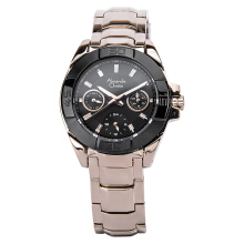 Alexandre Christie AC 6224 BF BCABA Ladies Black Dial Stainless Steel [ACF-6224-BFBCABA] Rose Gold