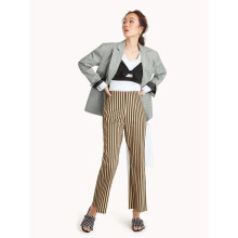 High Waist Flared Pants - Striped