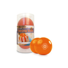 Merrithew Toning  Ball Two Pack 1Lb 10Cm With Retail Packing Pair - Orange