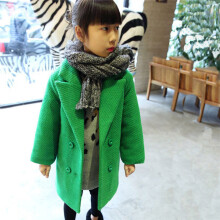 BESSKY Toddler Infant Kid Baby Girl Cartoon Solid Long Sleeve Coat Warm Outfits Clothes_