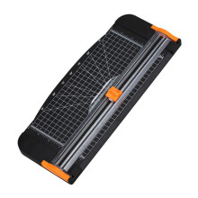 BESSKY New 909-5 A4 Guillotine Office Ruler Paper Cutter Trimmer Cutter Black-Orange_ Black
