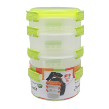 TECHNOPLAST Genio Round Sealware Stackable S1M3 Hijau