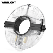 WHEELIGHT Rechargeable Cycling Hub Decoration Light Bike Safety Warning Wheel Lamp Transparent