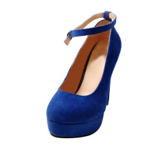 BESSKY Fashion Women's Shoes Ankle Strap High Heels Shoes Wedding Platform Pumps Shoes_