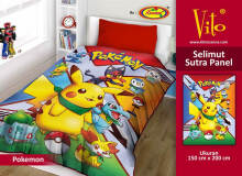 Selimut Vito Sutra Panel 150x200 Pokemon - Yellow Yellow