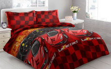 Sprei Bantal 2 Vito Disperse 160x200cm Ferrari - Red Red