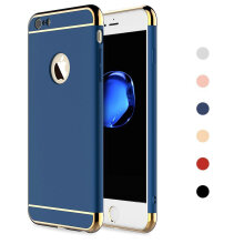 Keymao Apple Iphone 6/6S  Case 3 in 1 Electroplate Frame Matte Metal Cover