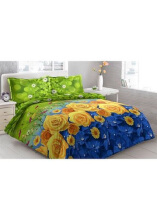 Sprei Bantal 2 Vito Disperse 180x200cm Yellow Roses - Multicolor