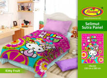 Selimut Rosanna Sutra Panel 150x200cm Kitty Fruit - Pink