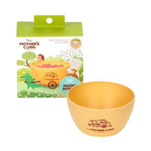 Mother's Corn Magic Happy Harvesting Bowl Village Temapat Makan Anak - Yellow [S]