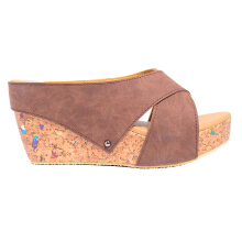 Dr. Kevin Women Wedges Sandal 27367 - Brown