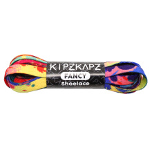 KIPZKAPZ XS16 Flat Printed Shoelace - Rainbow Splash [8mm]