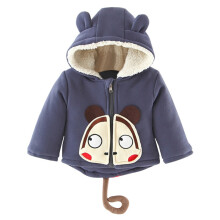BESSKY Cute Kids Boys Girls Autumn Winter Hooded Coat Cloak Thick Warm Clothes_