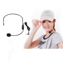 BESSKY Educational lectures Headset Microphone Headset Amplifiers 3.5 Interface_ Black