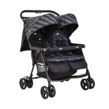 JOIE Aire Twin Stroller - Liquorice