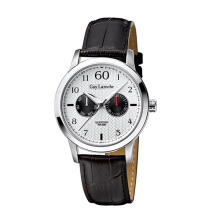 Moment Watch Guy Laroche G3016-01 Jam Tangan Pria - Leather Strap - Hitam Black Black