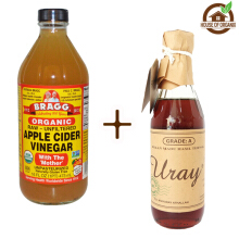 BRAGG Apple Cider Vinegar 473 ml + Madu Uray 330 ml