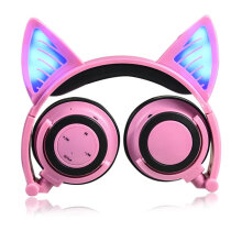 Cat Ear Bluetooth Headphone Foldable Cosplay Stereo Headset Earphone With Mic Multicolor