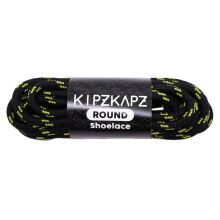 KIPZKAPZ RS5 Round Shoelace - Black Green [4mm]