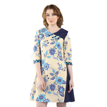 Rianty Batik Wanita Dress Belicia - Cream
