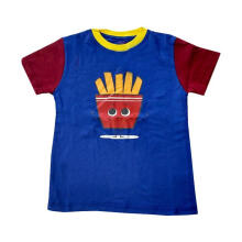 Kohai Fries Tee Atasan Anak - Navy Red