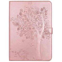 Keymao Apple iPad mini 4 Luxury Flip Leather case Cat tree embossed Cover