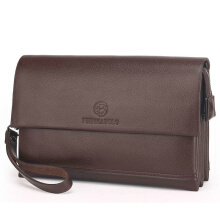 Wei's Men's select fashion wallet leather wallet business casual wallet large capacity wallet clutch fdk3109-Brown