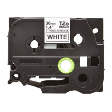 BROTHER Label Tape TZE-S261 36MM Strong Adhessive Black on White