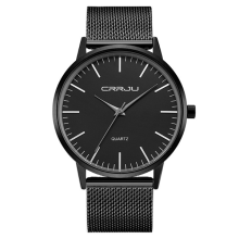 CRRJU 2117 Luxury Men Quartz Watch Fashion Ultra Thin Wristwatch