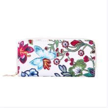 BESSKY Women's Casual Floral Printing Card Holder Billfold Purse Wallet Handbag_
