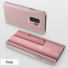 DELIVE oppo F9 Slim Clear Mirror Case Stand Cover Luxury Leather Phone Cases
