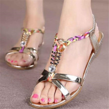 BESSKY Summer Women Flat Sandals for Women Fashion Casual Sandals Beach Shoes _