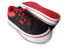 RECORD Carla Women  Sepatu Sneakers Black Red