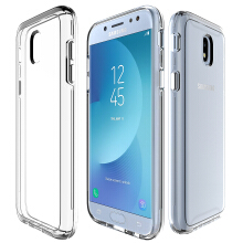 VEN Samsung Galaxy J7 Pro 2017 Case Hybrid Soft TPU Protective Shockproof Hard PC Frame Cover Transparent