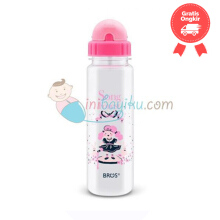 Bros Crystal Plus (Straw) Song Of The Forest Size 550ml Color Pink