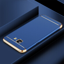 Smatton for Samsung Galaxy J5 Prime G570 case 3 in 1 Electroplate Frame Matte Metal Cover Luxury 3-IN-1 Shockproof Case