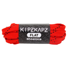 KIPZKAPZ FS52 Flat Shoelace - Red Black [7mm]