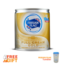 FRISIAN FLAG Susu Kental Manis Gold 370g x 2pcs Free Tumblr