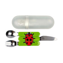 Tum Tum Ladybird Travel Cutlery Set - Green