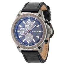 Police Blue dial Black Leather Strap [PL.14537JSU/02A]