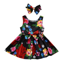 BESSKY Toddler Kid Baby Girl Clothes Floral Bowknot Princess Party Dresses Outfits_