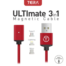 TERA Ultimate 3in1 Magnetic Cable Red
